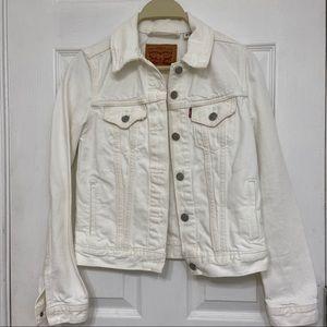 Levi's white original trucker jacket (XS)